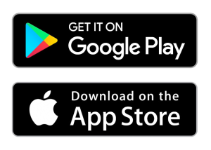 App Stores buttons both transparent